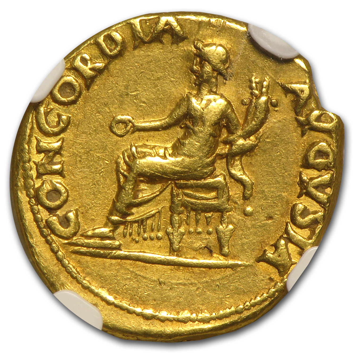Roman Gold Aureus of Nero Ch VF NGC (54-68 AD)