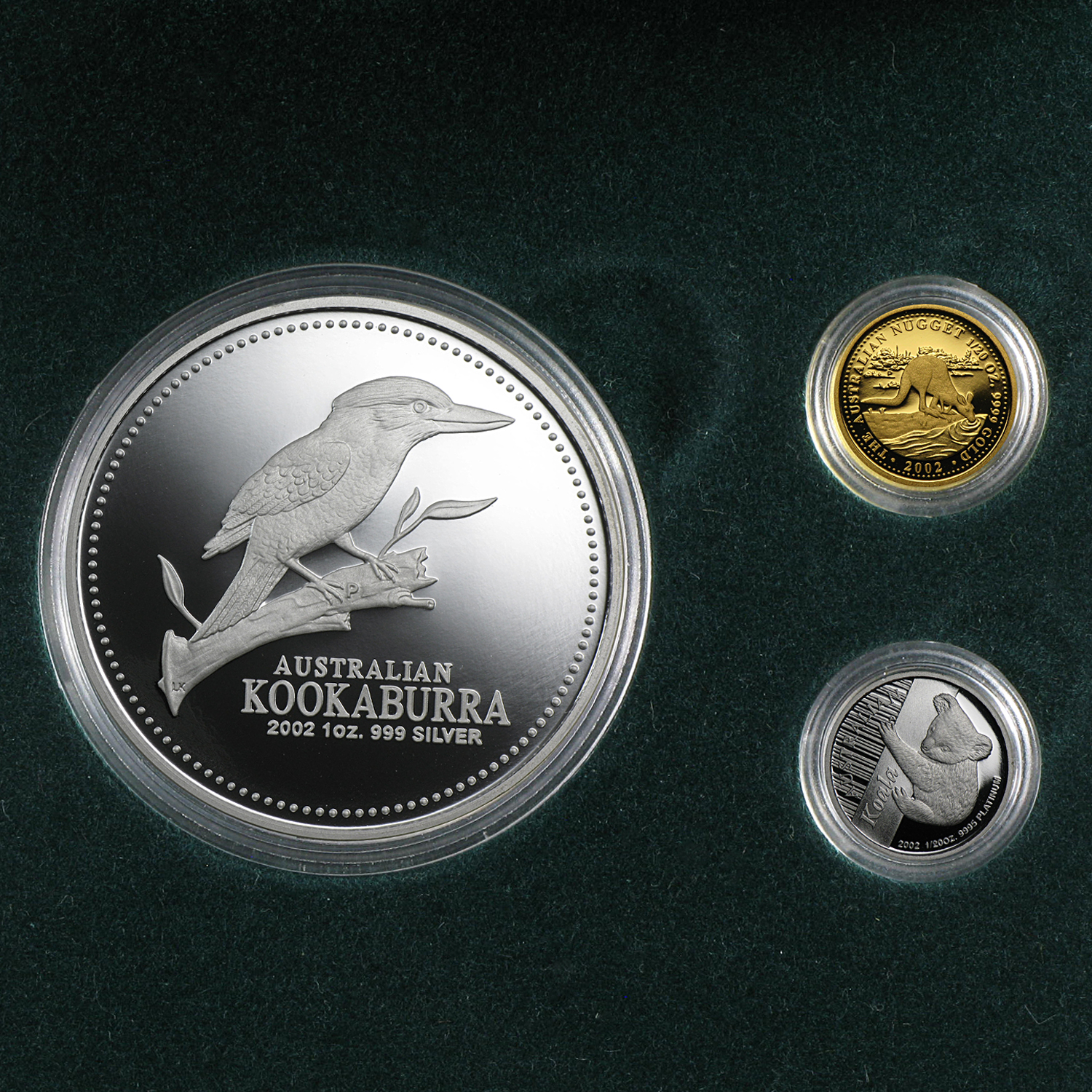 2002 3-Coin Proof Australian Mini Outback Collection