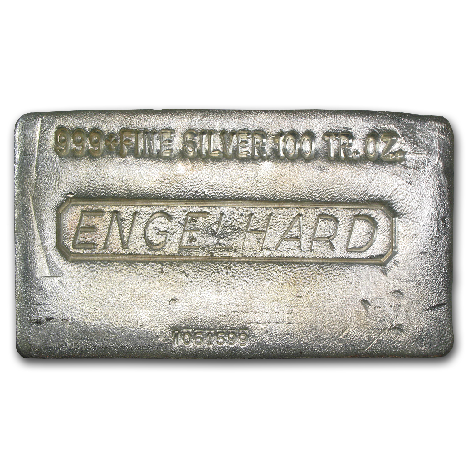 100 Oz Silver Bar Engelhard Poured 100 Oz Silver