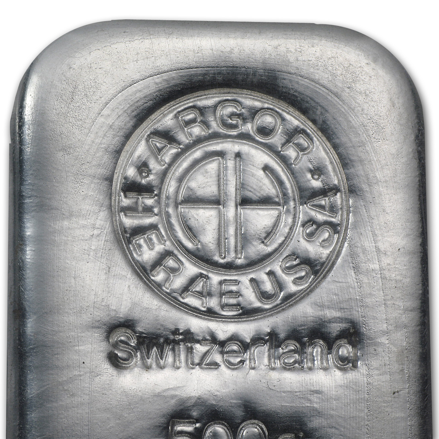 500 gram Silver Bars - Argor/Heraeus (Switzerland)