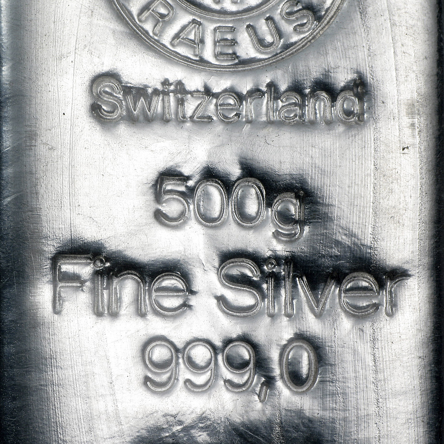 500 gram Silver Bar - Argor/Heraeus (Switzerland)