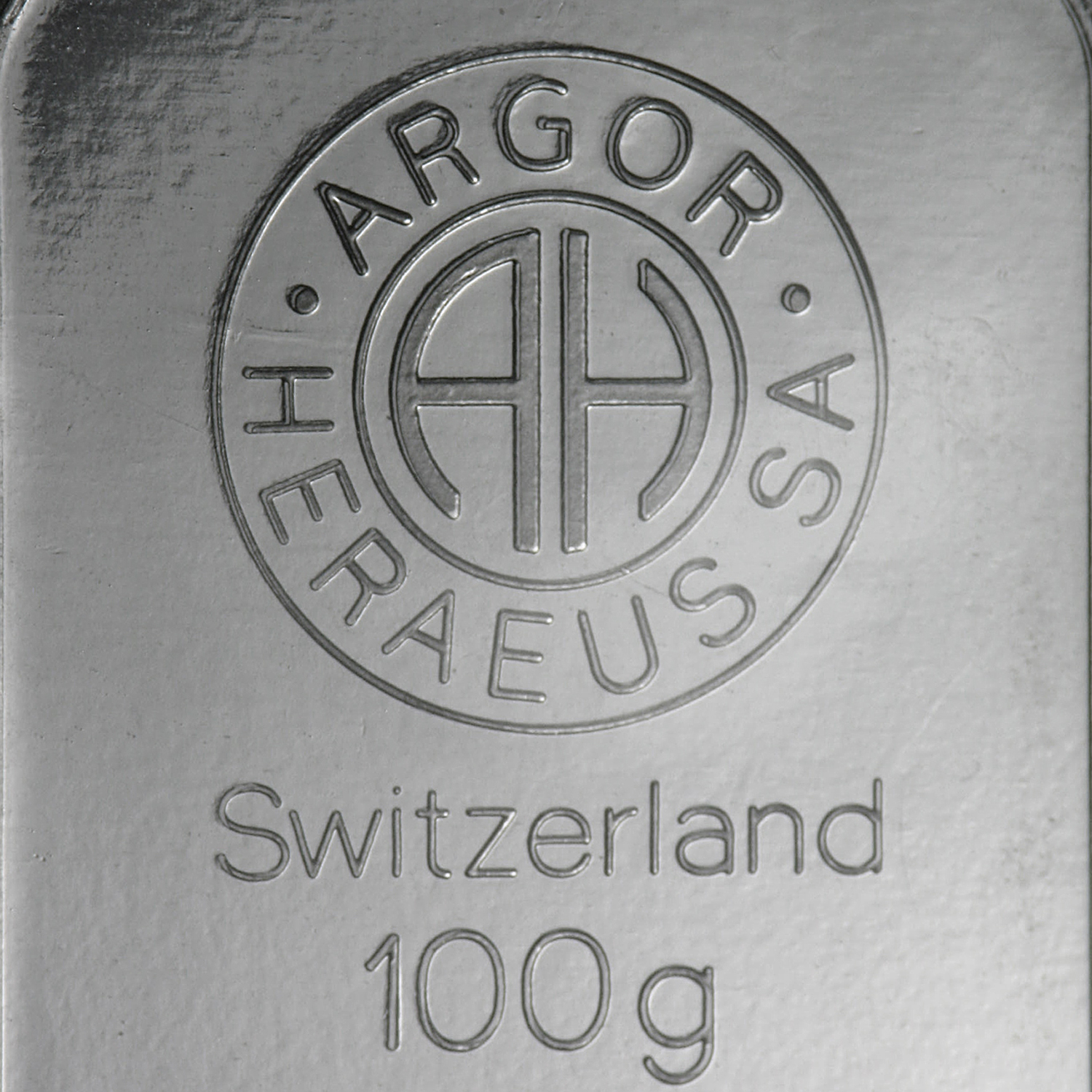 100 gram Silver Bar - Argor/Heraeus (Pressed/Switzerland)