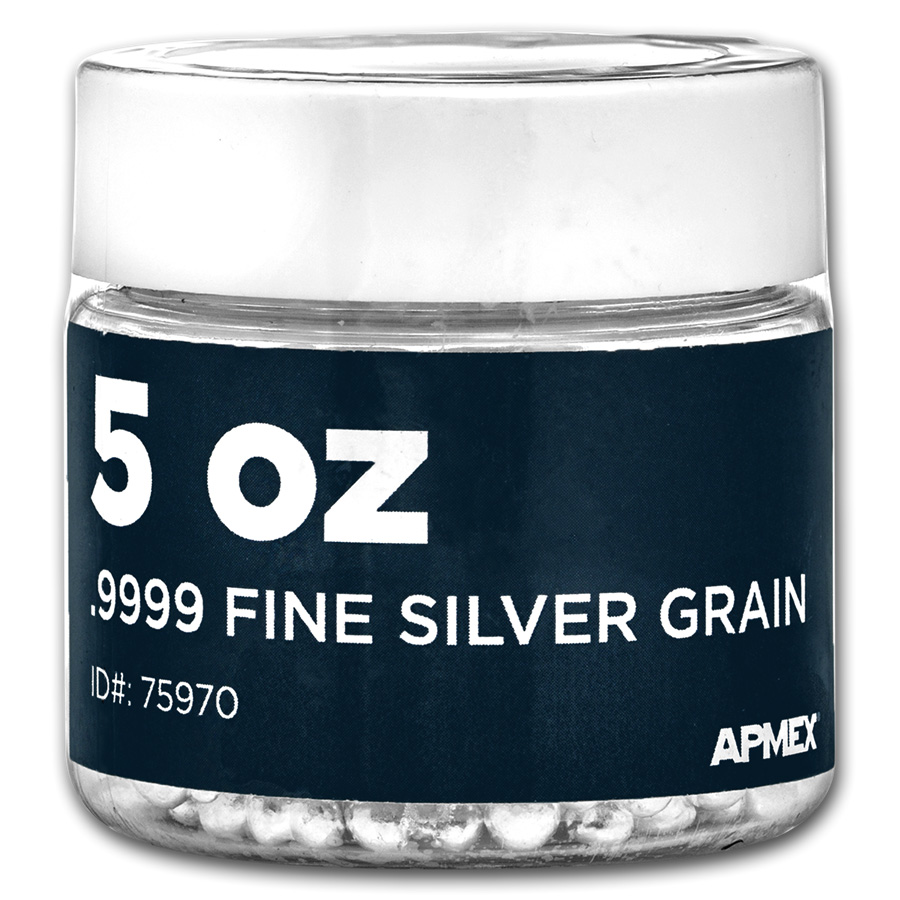 5 Oz Bag Silver Grain Shot 999 Fine Industrial Silver
