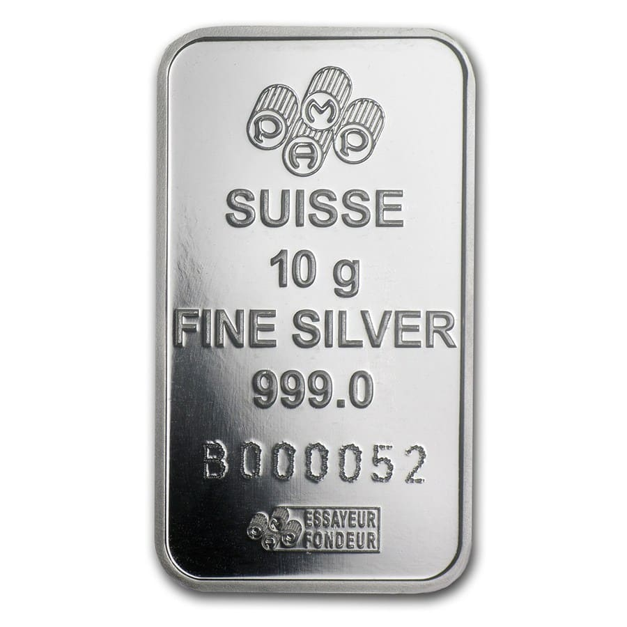 10 gram Silver Bar - PAMP Suisse (Fortuna, In Assay)