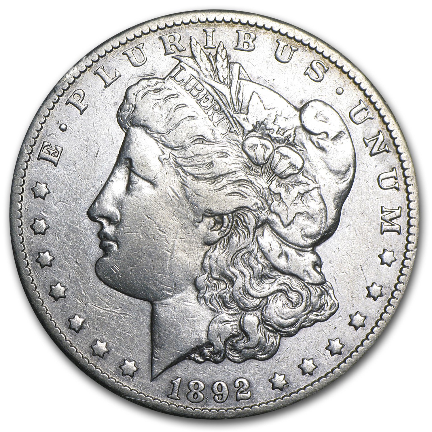 1892-CC Morgan Dollar XF (Cleaned)