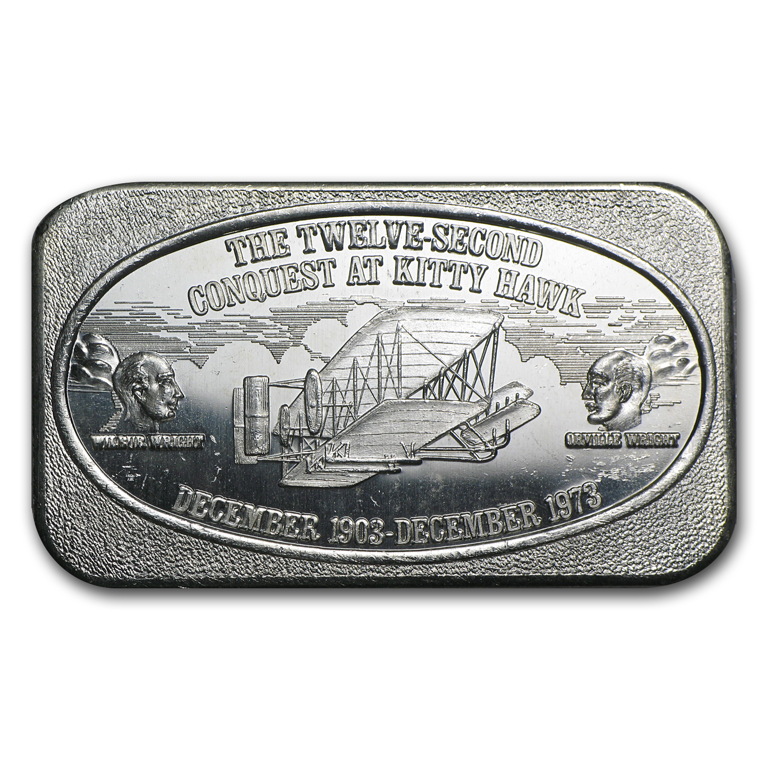 1 oz Silver Bar - Conquest at Kitty Hawk