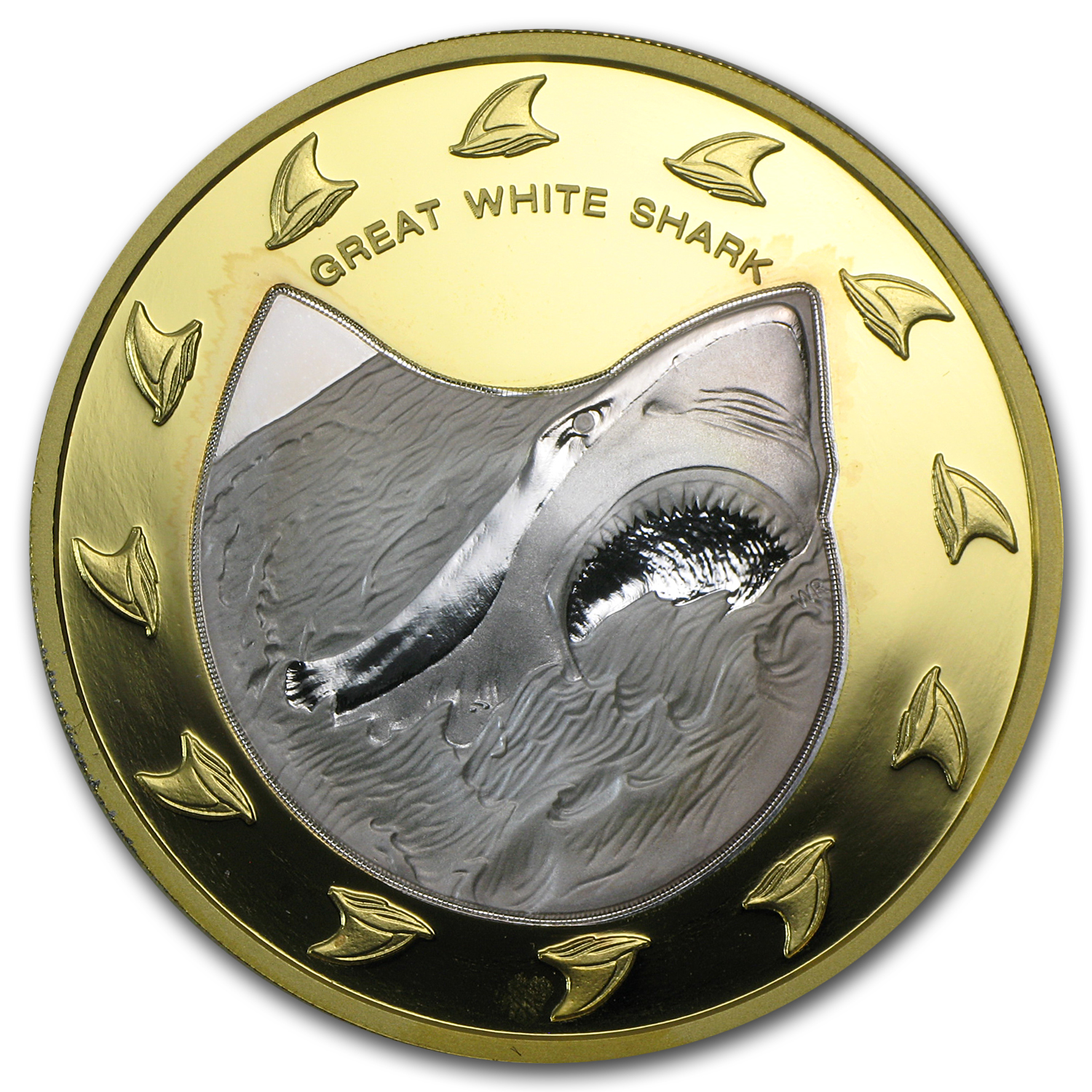 2005 Cook Islands Gold/Silver $150 Great White Shark Proof