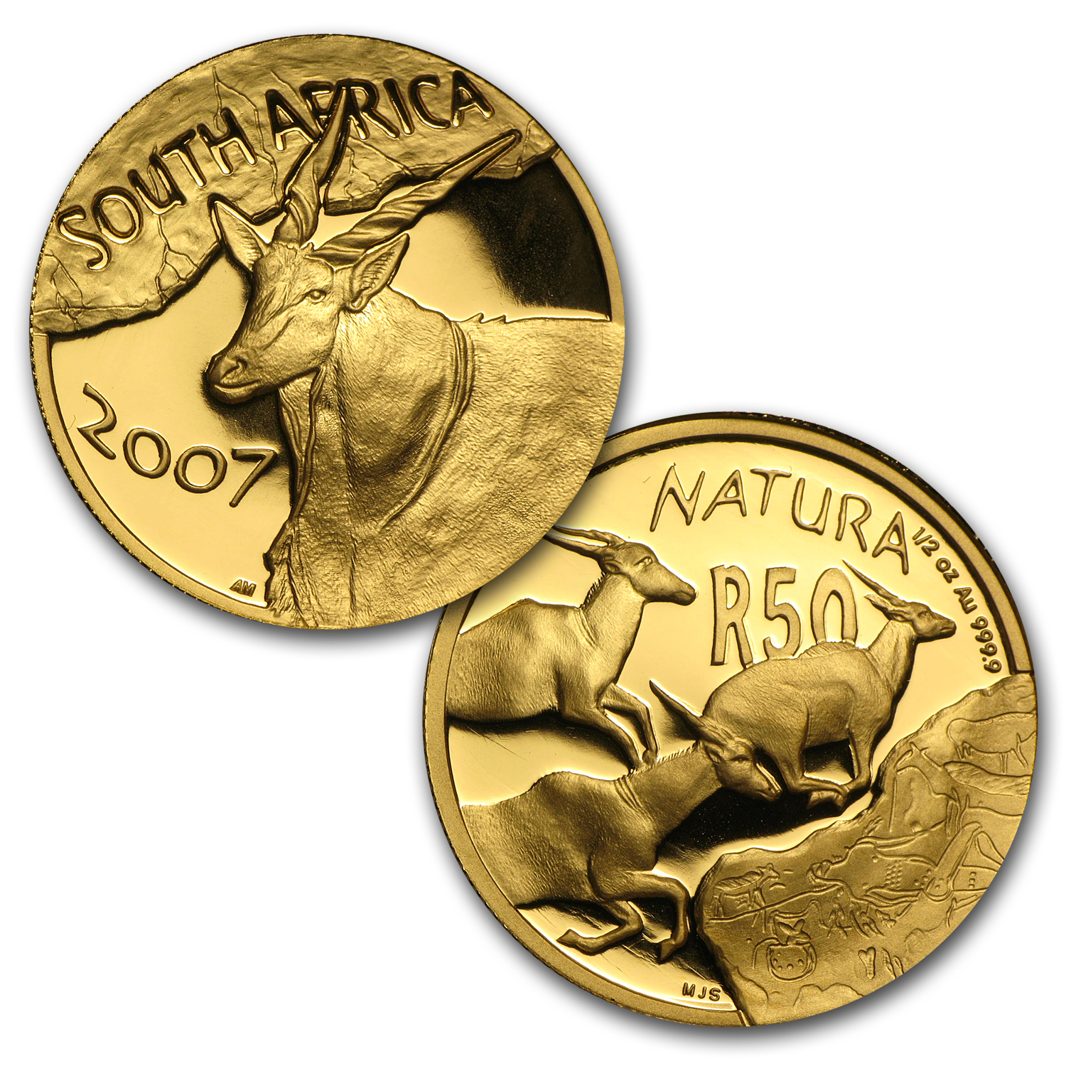 2007 South Africa 3-Coin Gold Natura Eland Proof Set