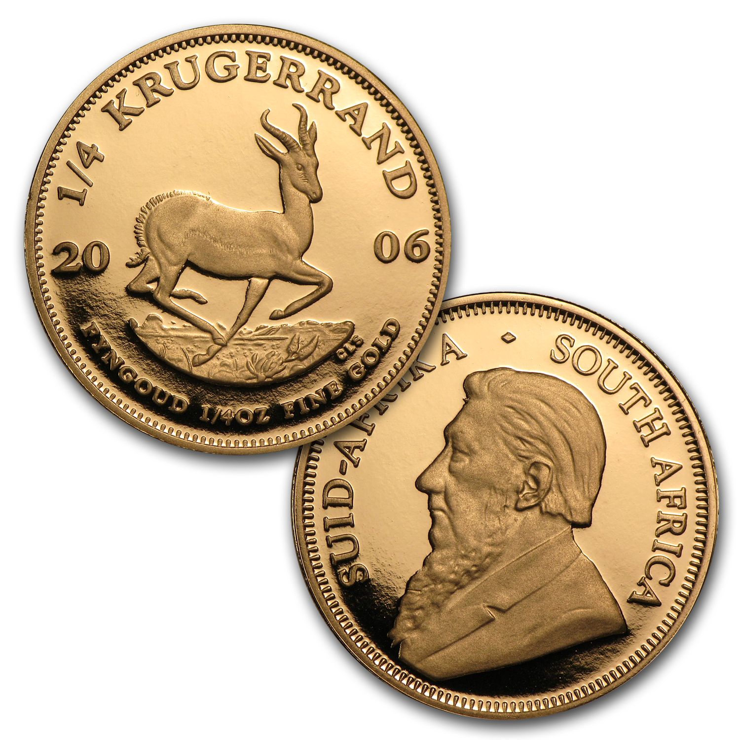 2006 4-Coin Gold South African Krugerrand 20th Ann. Proof Set