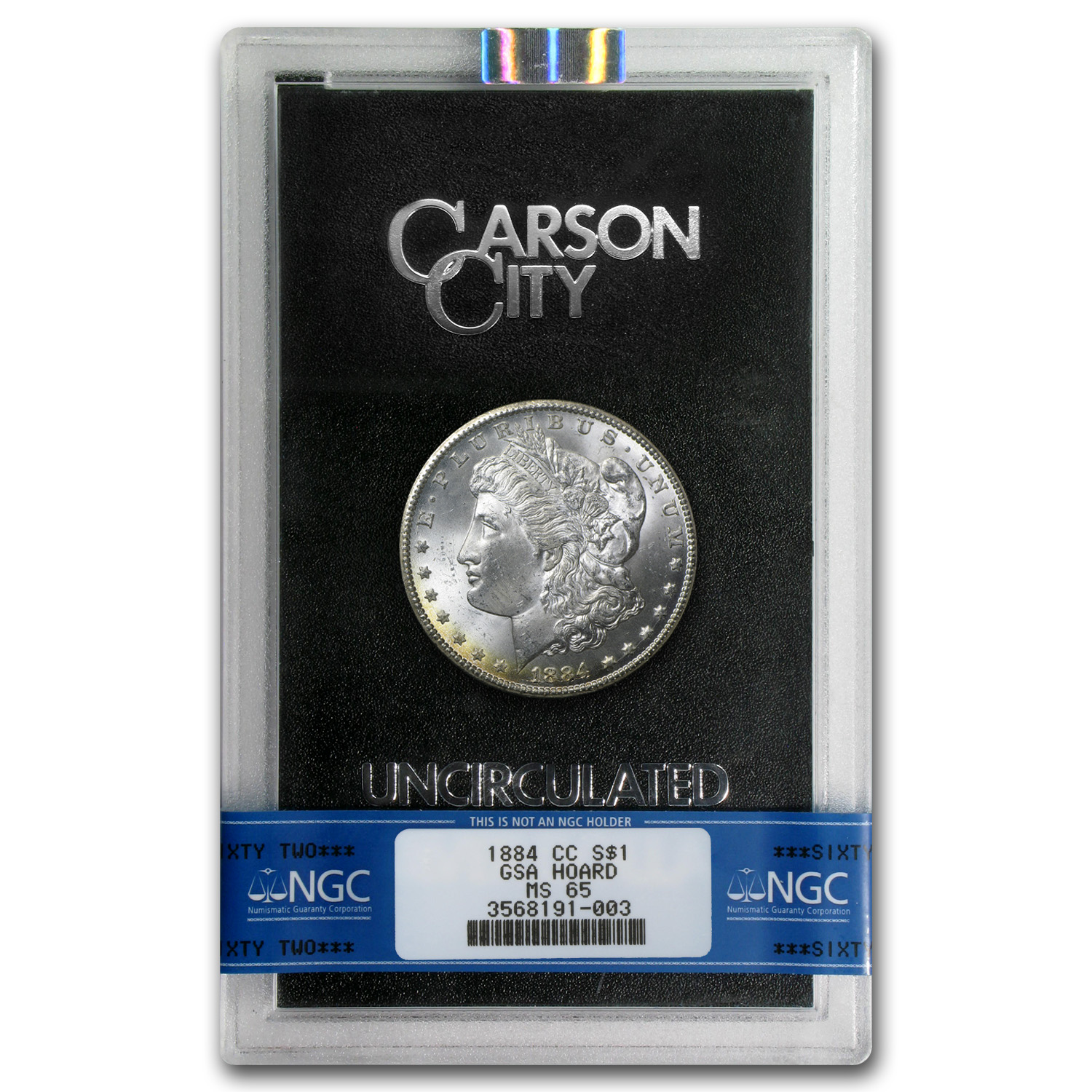 1884-CC Morgan Dollar MS-65 NGC - GSA Certified