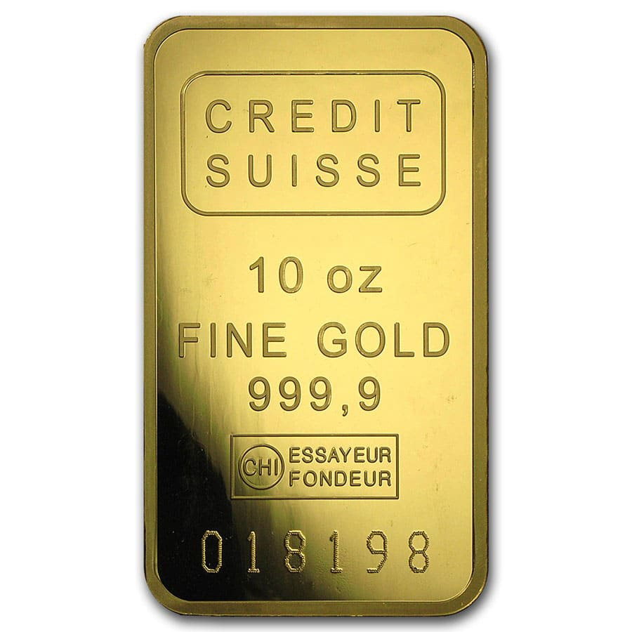 10 oz Gold Bars - Brand Name