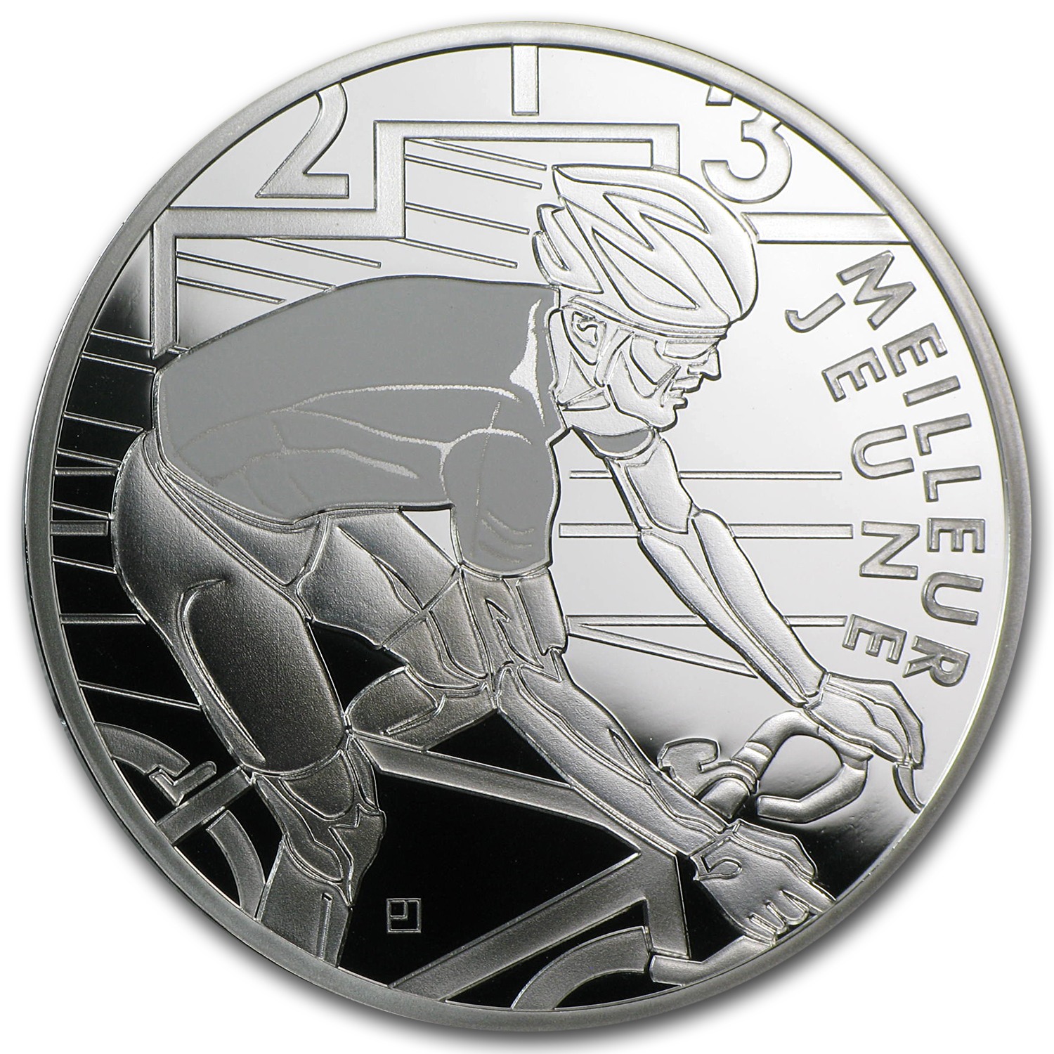 2013 Silver €10 100th Edition Tour de France White Jersey Proof