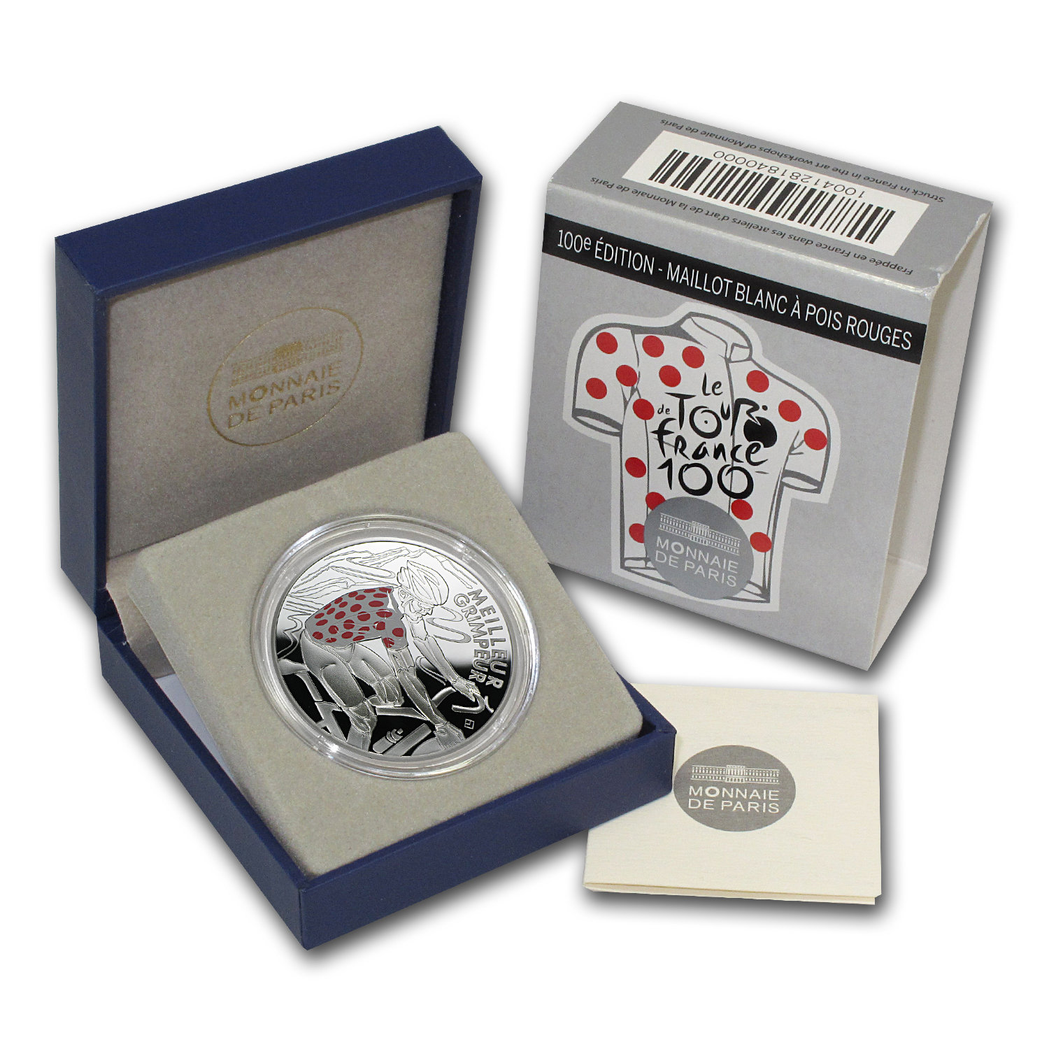 2013 10€ Silver 100th Edition Tour de France - Red Spotted Jersey