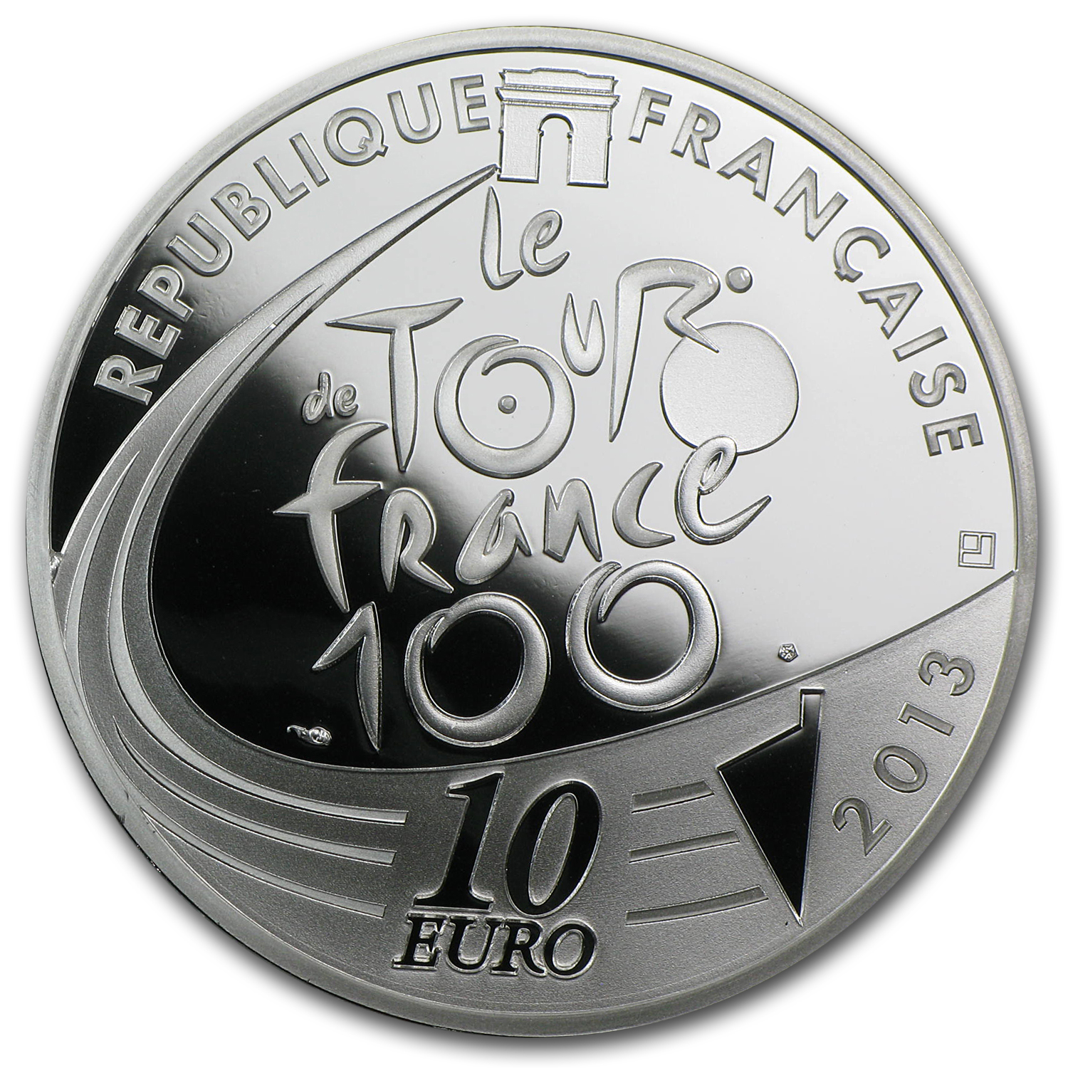 2013 Silver €10 100th Edition Tour de France Green Jersey Proof