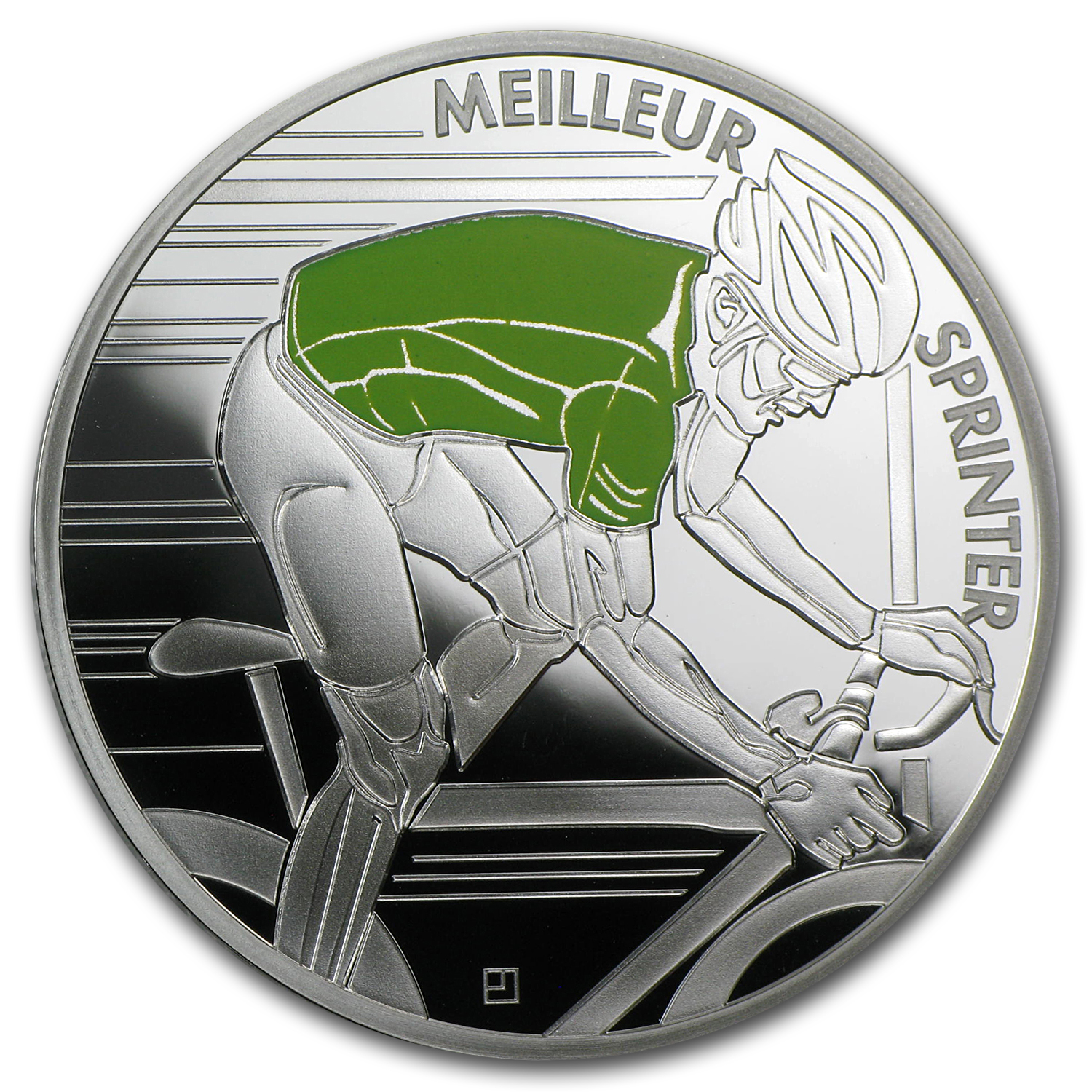 2013 10€ Silver Proof 100th Edition Tour de France - Green Jersey