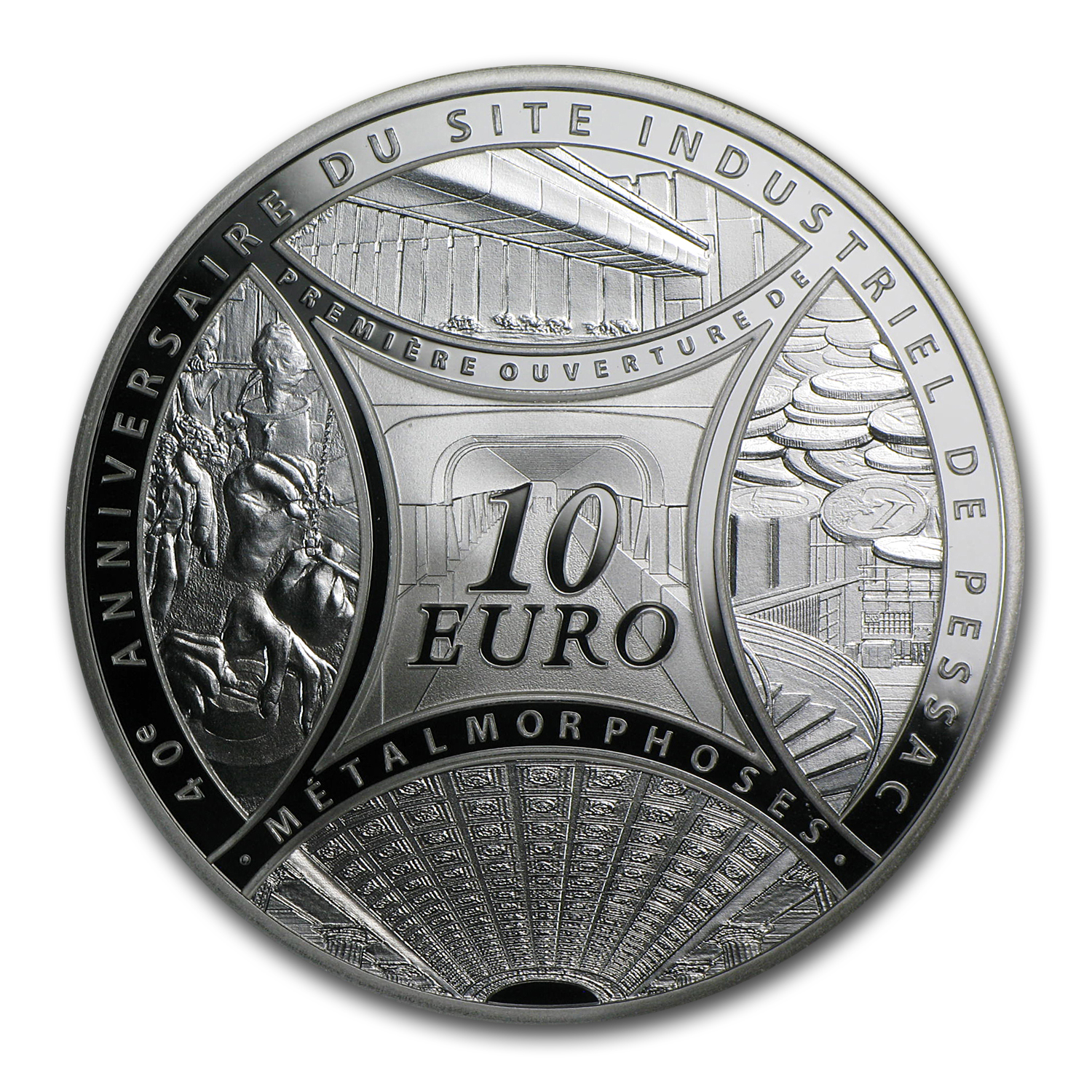 2013 France Silver €10 40th Anniv of Pessac's Industrial Site