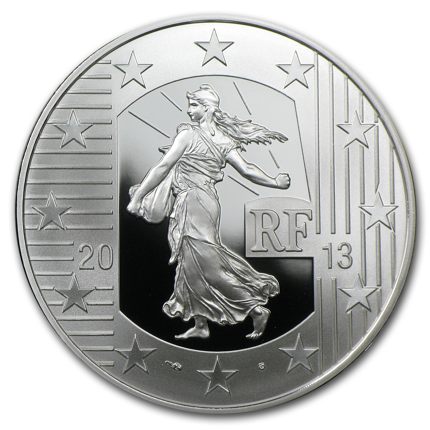 2013 €10 The Sower - 40th Anniv. of Pessac's Industrial Site