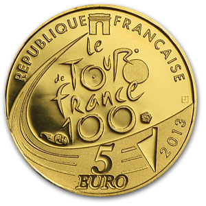 2013 1/2 gram Gold Proof 100th Edition Tour de France