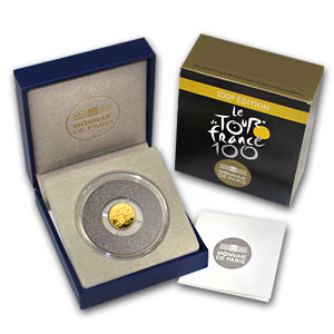 2013 1/2 gram Proof Gold 100th Edition Tour de France