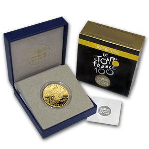 2013 1 oz Gold Proof 100th Edition Tour de France