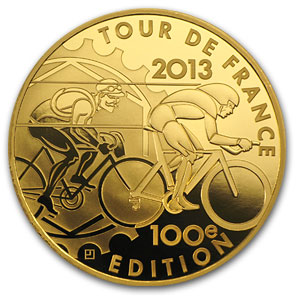 2013 1 oz Proof Gold 100th Edition Tour de France