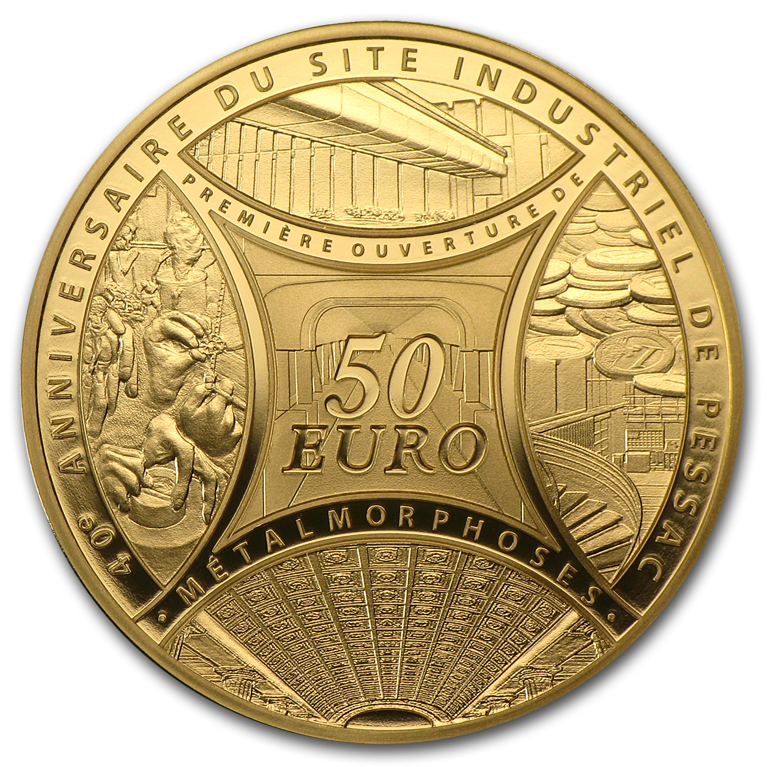 2013 1/4 oz Gold The Sower-40th Anniv of Pessac's Industrial Site