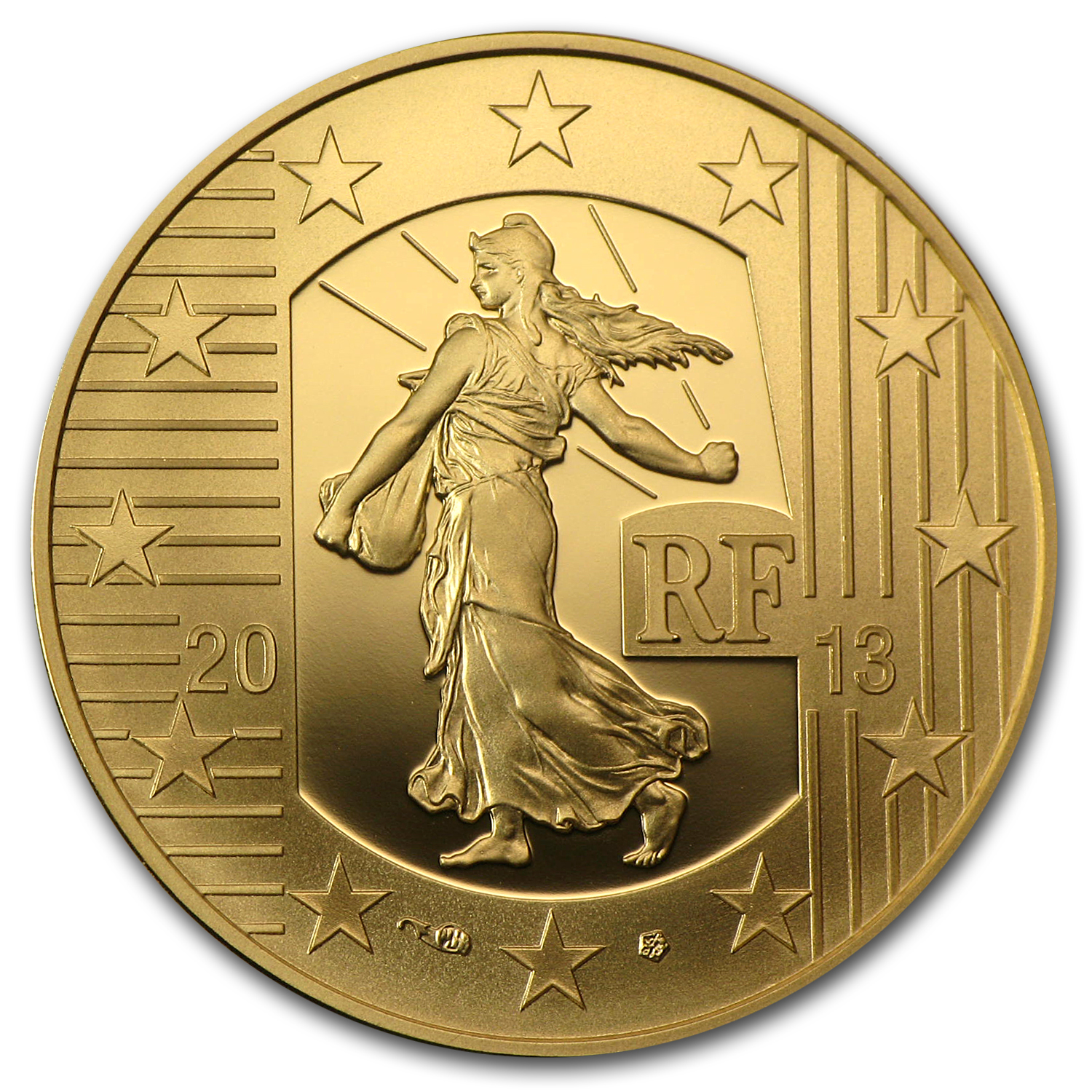 2013 1/4 oz Gold The Sower 40th Anniv of Pessac's Industrial Site