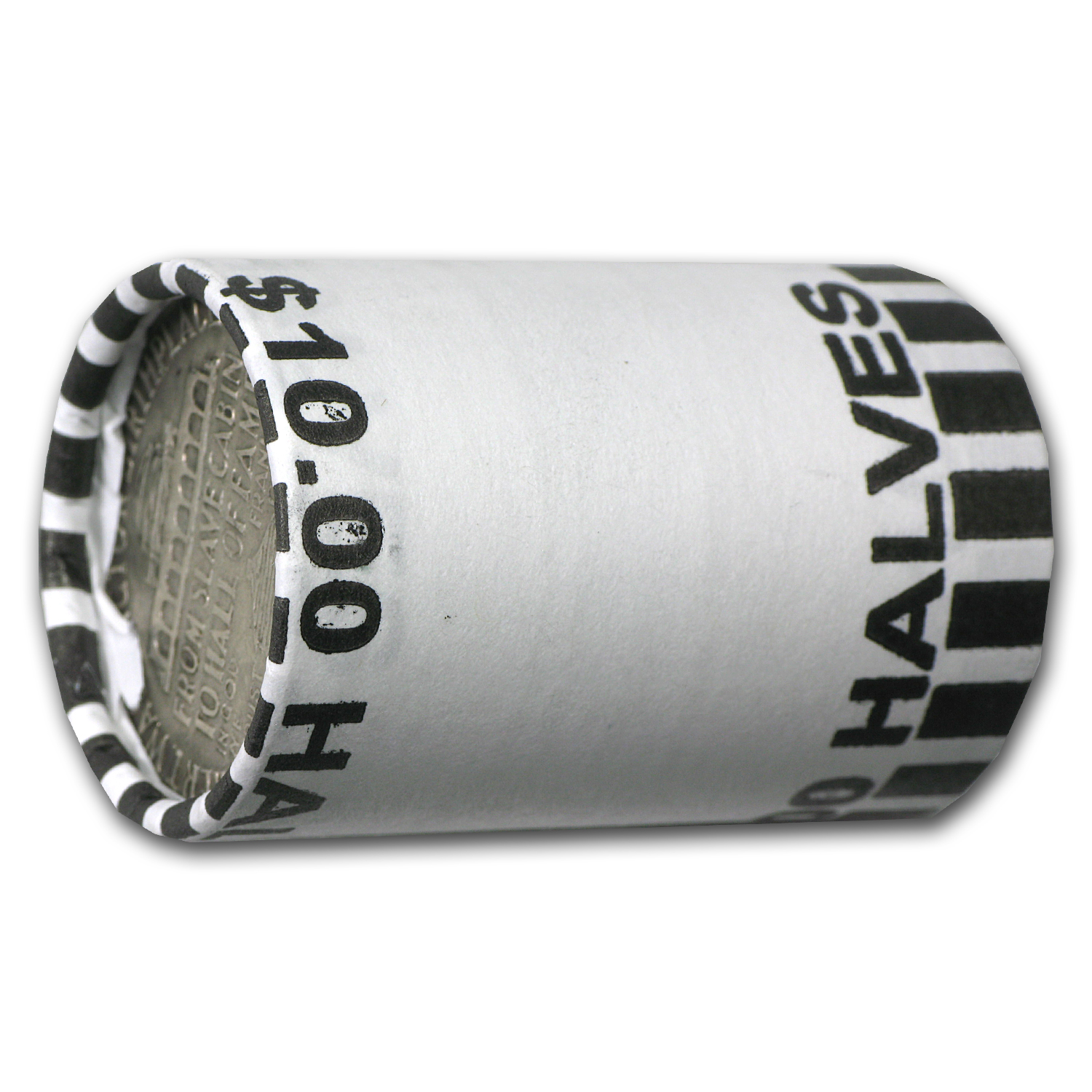 Booker T Wash. 20-Coin 90% Silver Half Roll Average Circ