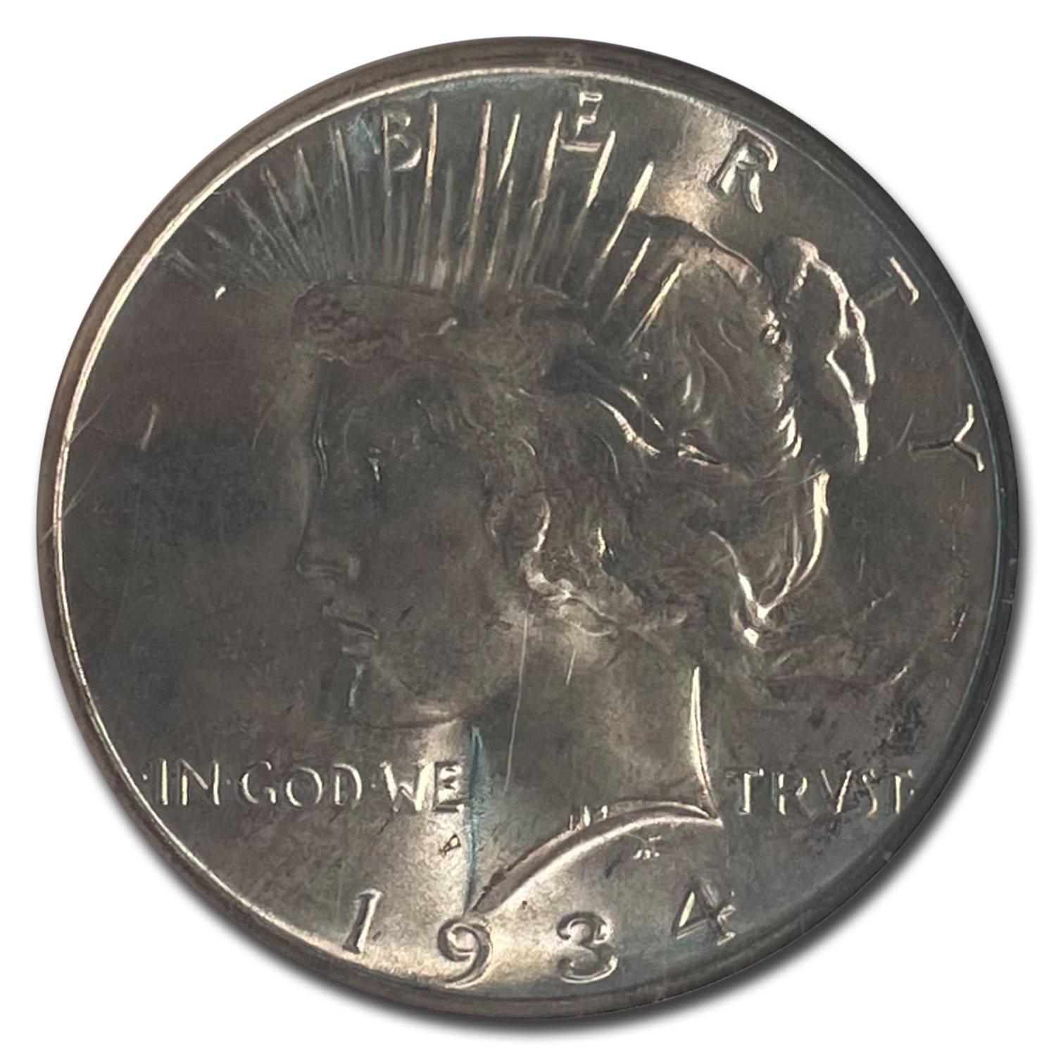 1934-D Peace Dollar MS-65 NGC
