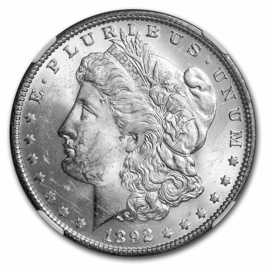 1892-O Morgan Dollar MS-62 NGC