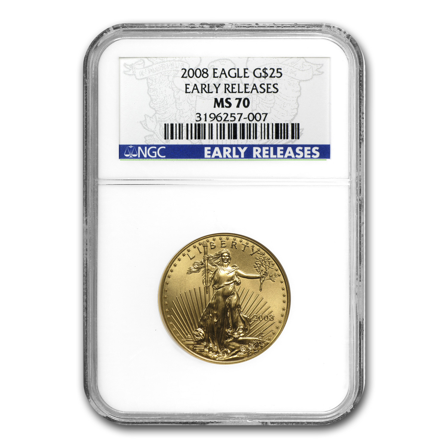 2008 4-Coin Gold American Eagle Set MS-70 NGC (Early Releases)