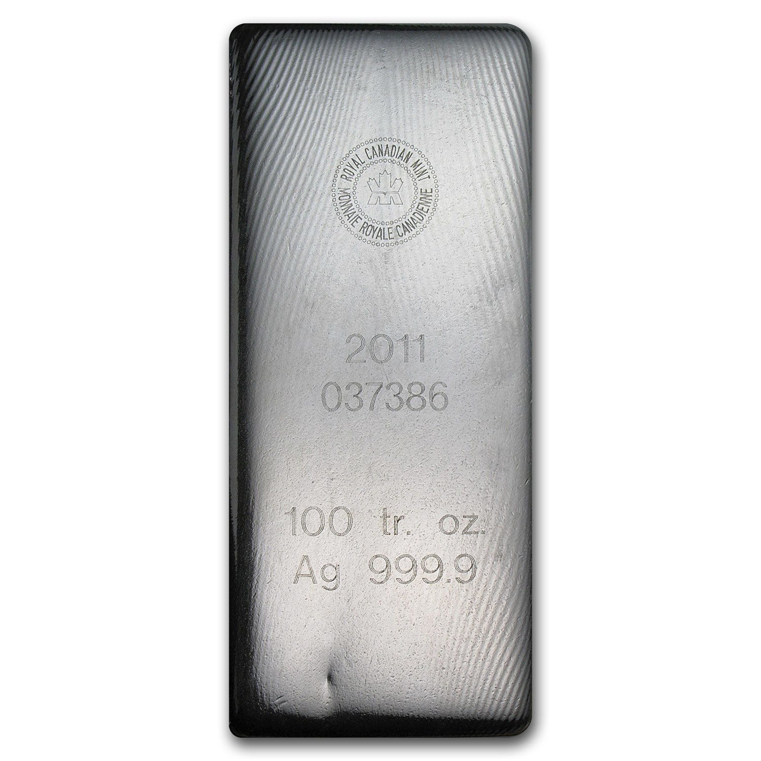 100 oz Silver Bar - RCM (2011/.9999 Fine)