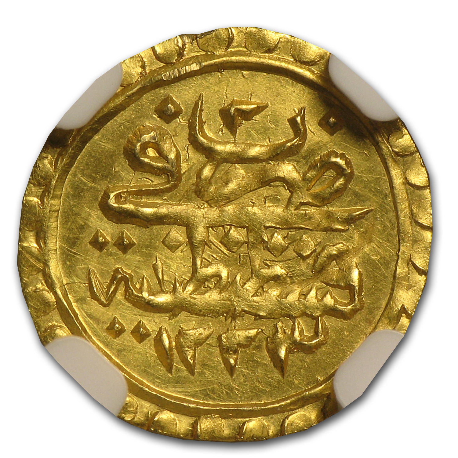 AH1223-1255 Turkey Gold 1/4 Zeri Mahbub MS-62 NGC