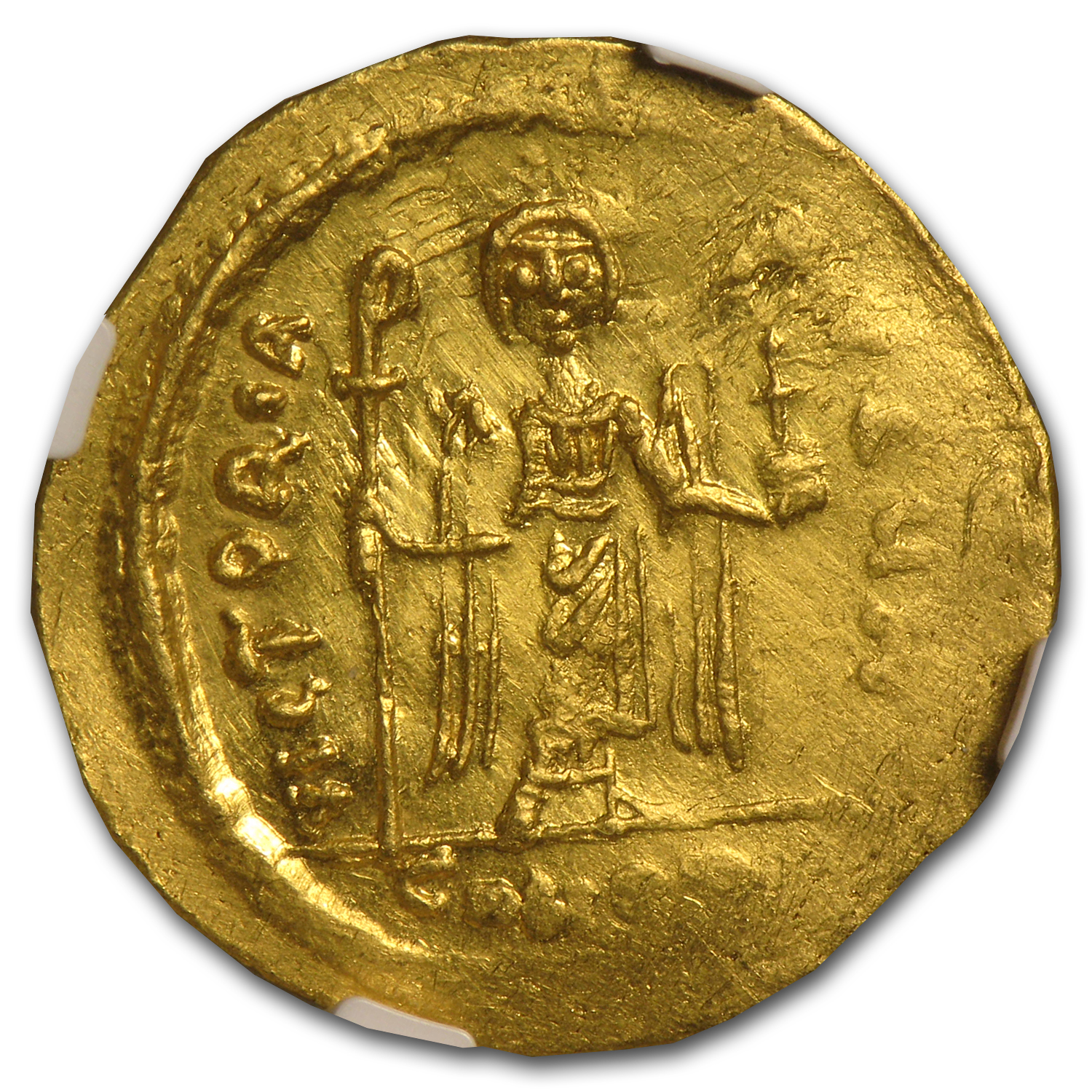 Byzantine Gold Coin - (Emperor Phocas) 602-610 AD NGC MS