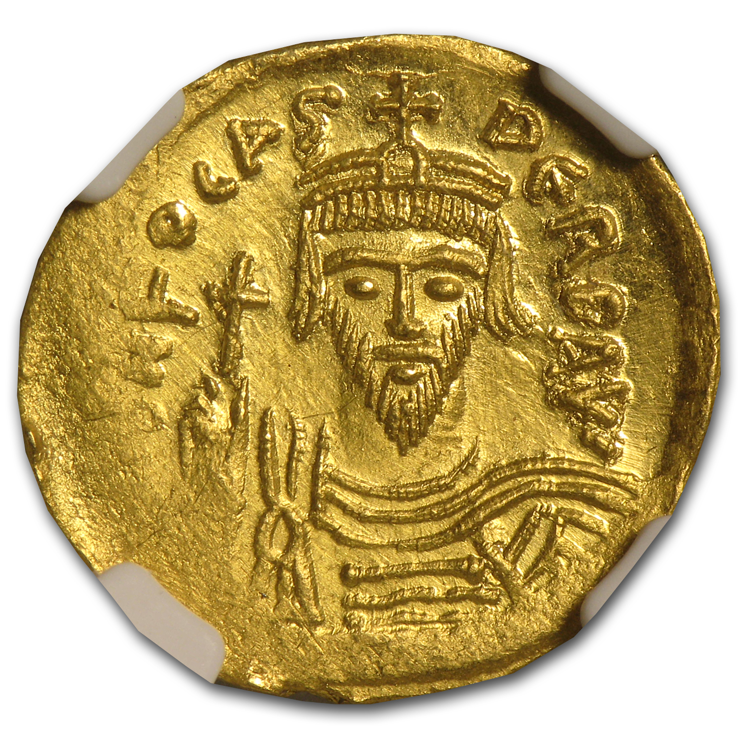 Byzantine Gold Emperor Phocas MS NGC (602-610 AD)