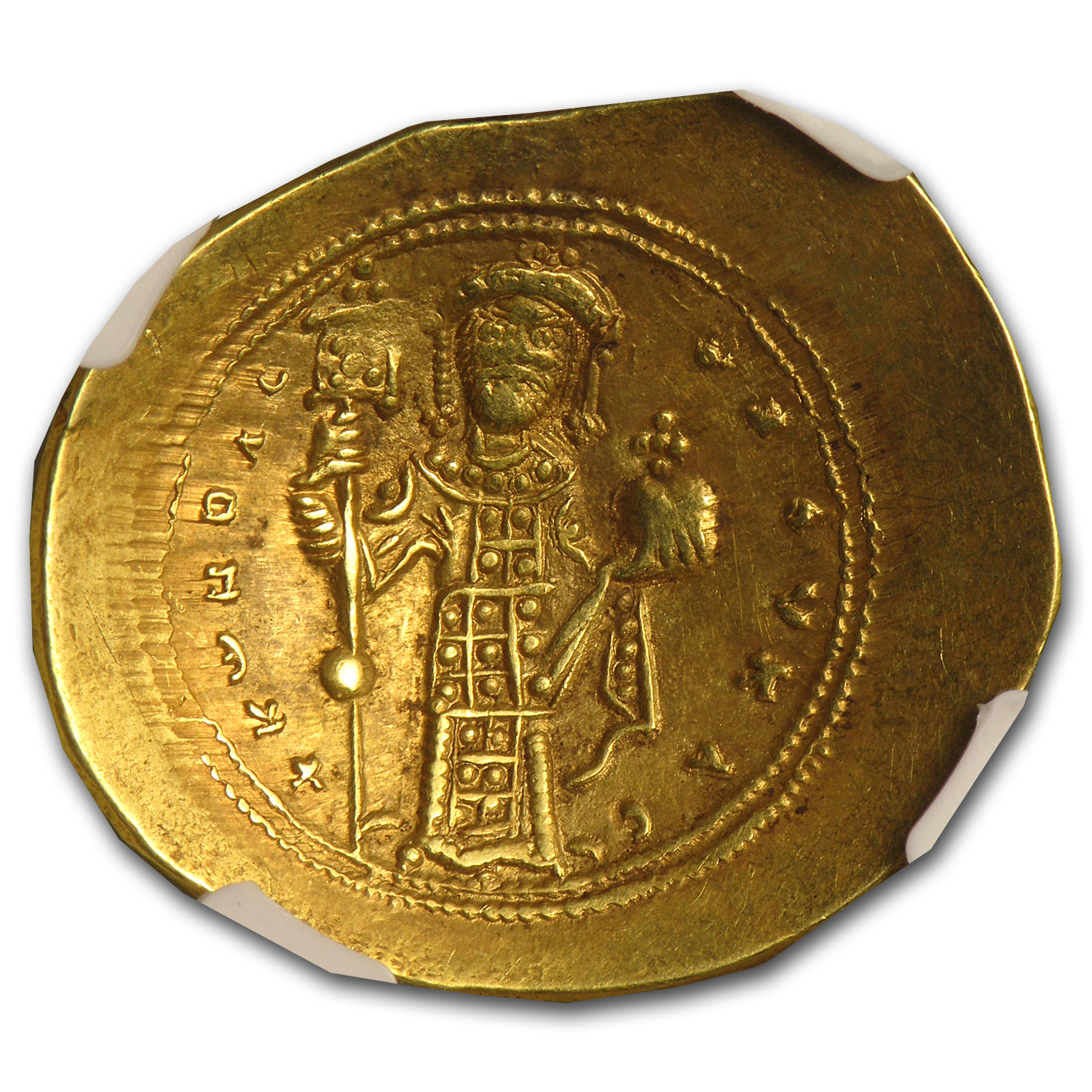 Byzantine Gold Histamenon of Constantine X XF NGC (1059-1067 AD)