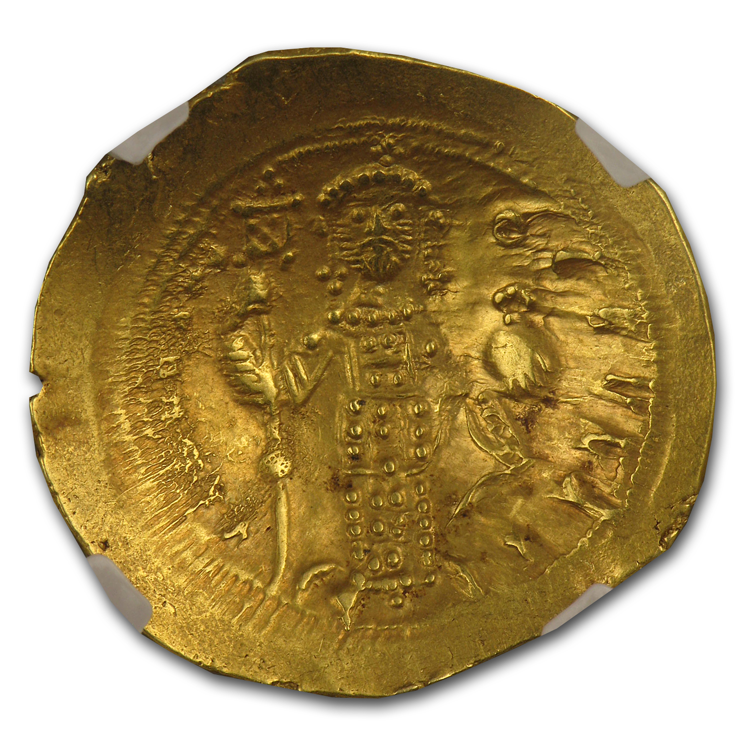 Byzantine Gold Histamenon of Constantine X (1059-1067AD) NGC-AU