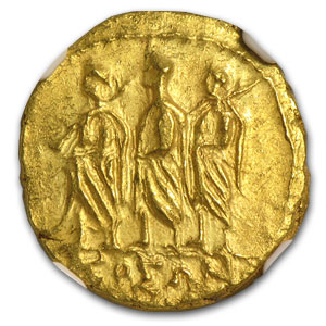 Thracian/Scythian Gold Stater Coson (1st Century BC) AU NGC