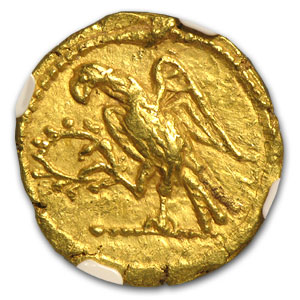 Thracian/Scythian Gold Stater AU NGC (1st Century BC)