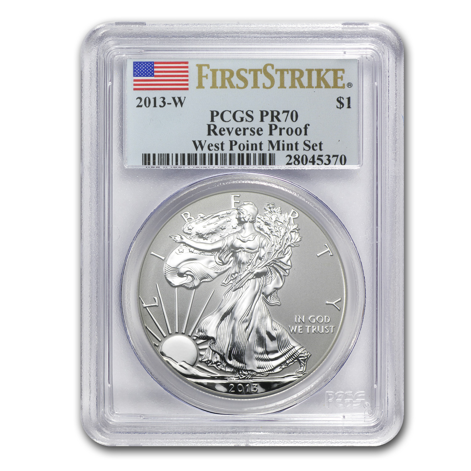 2013 American Silver Eagle West Point Set MS/PF-70 PCGS (FS)