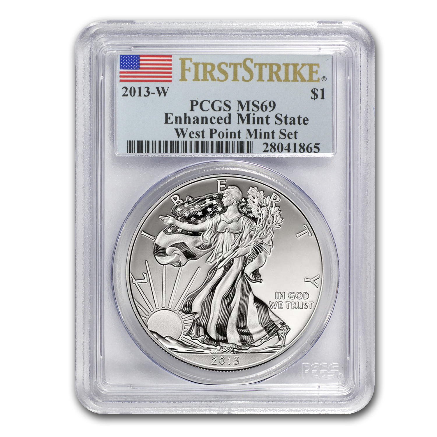 2013 2-Coin Silver Eagle Set MS/PR-69 PCGS (FS, West Point)