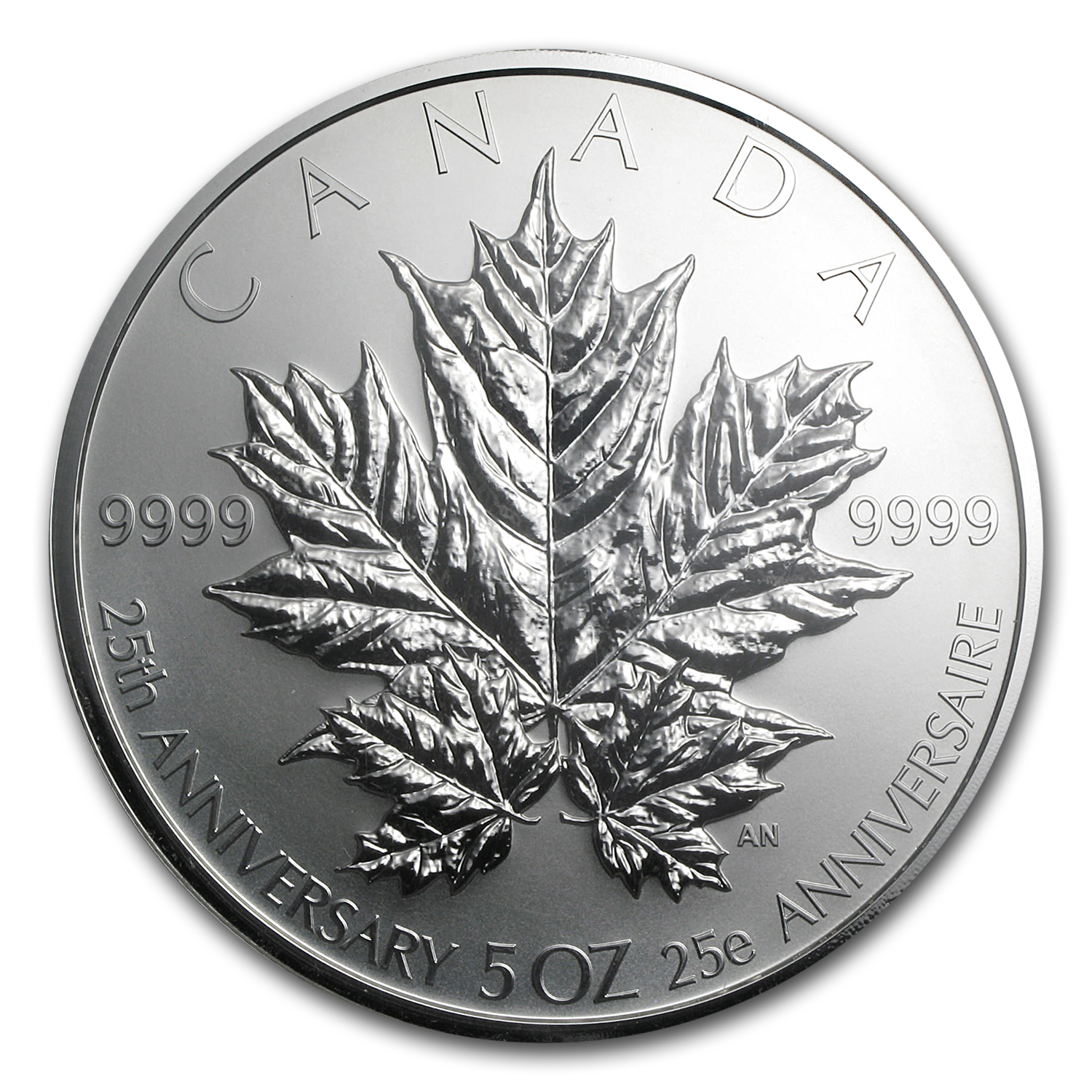 2013 Canada 5 oz Silver $50 25th Anniversary Maple PF-69 NGC