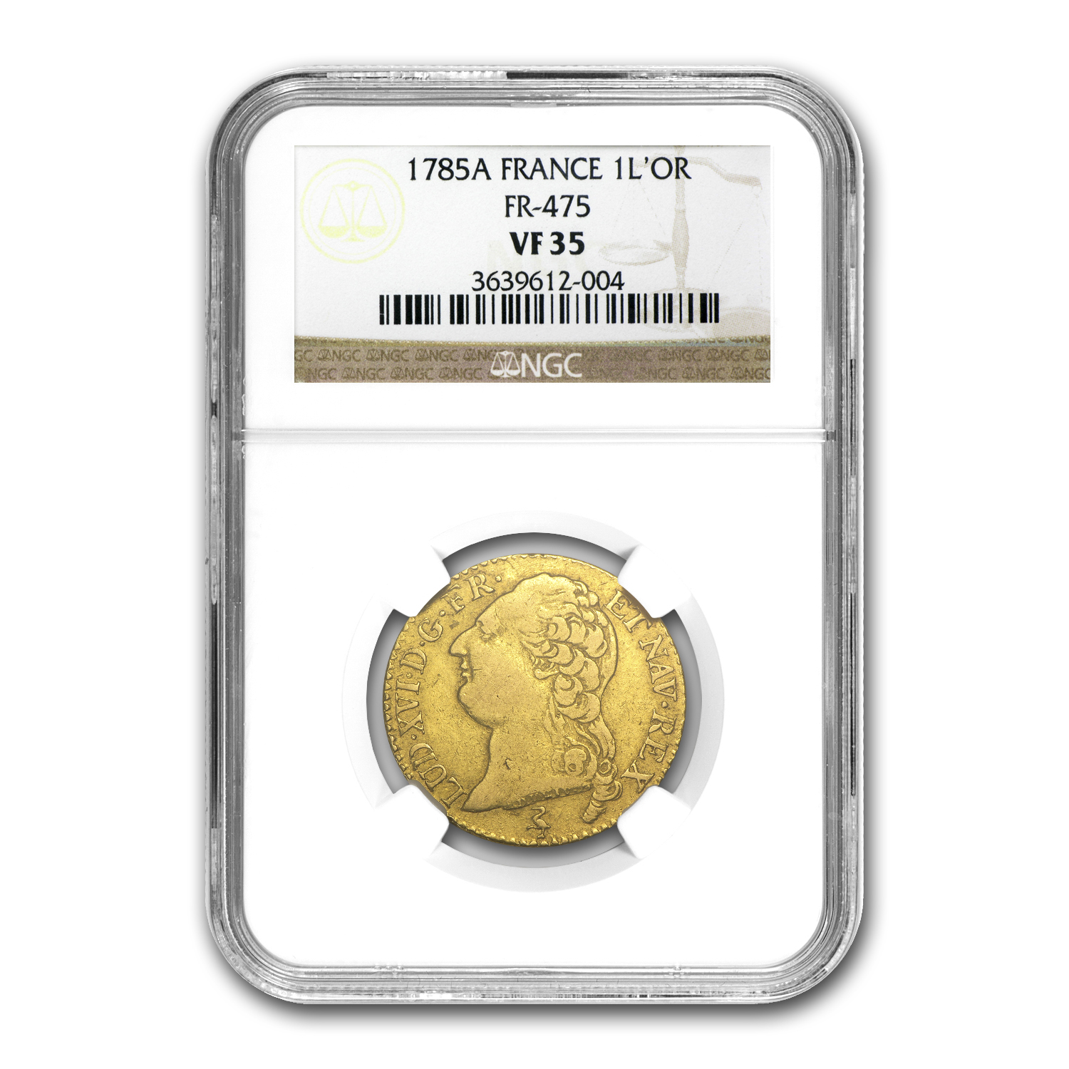 1785-A France Gold Louis D'or VF-35 NGC