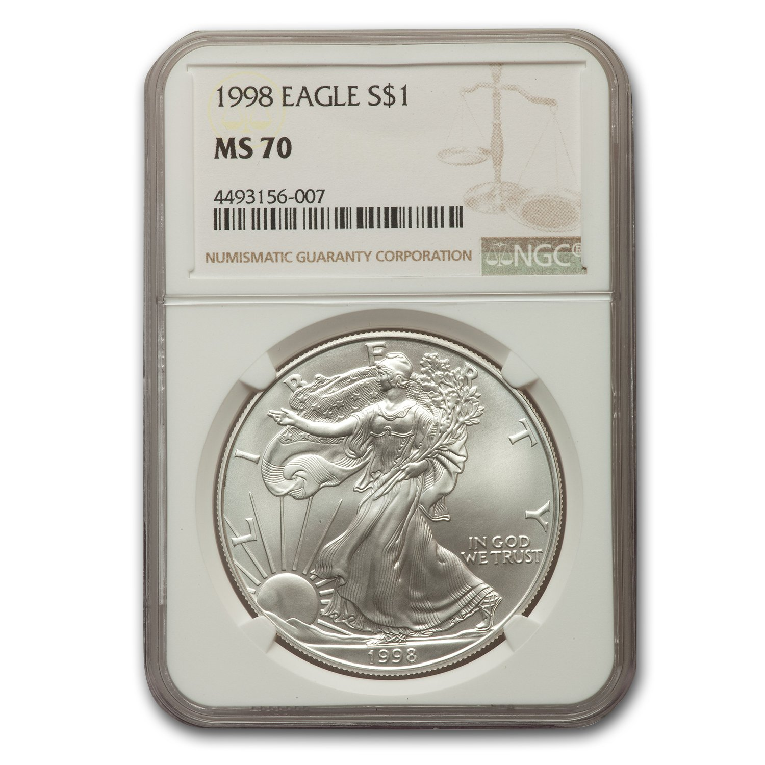 1998 Silver American Eagle MS-70 NGC