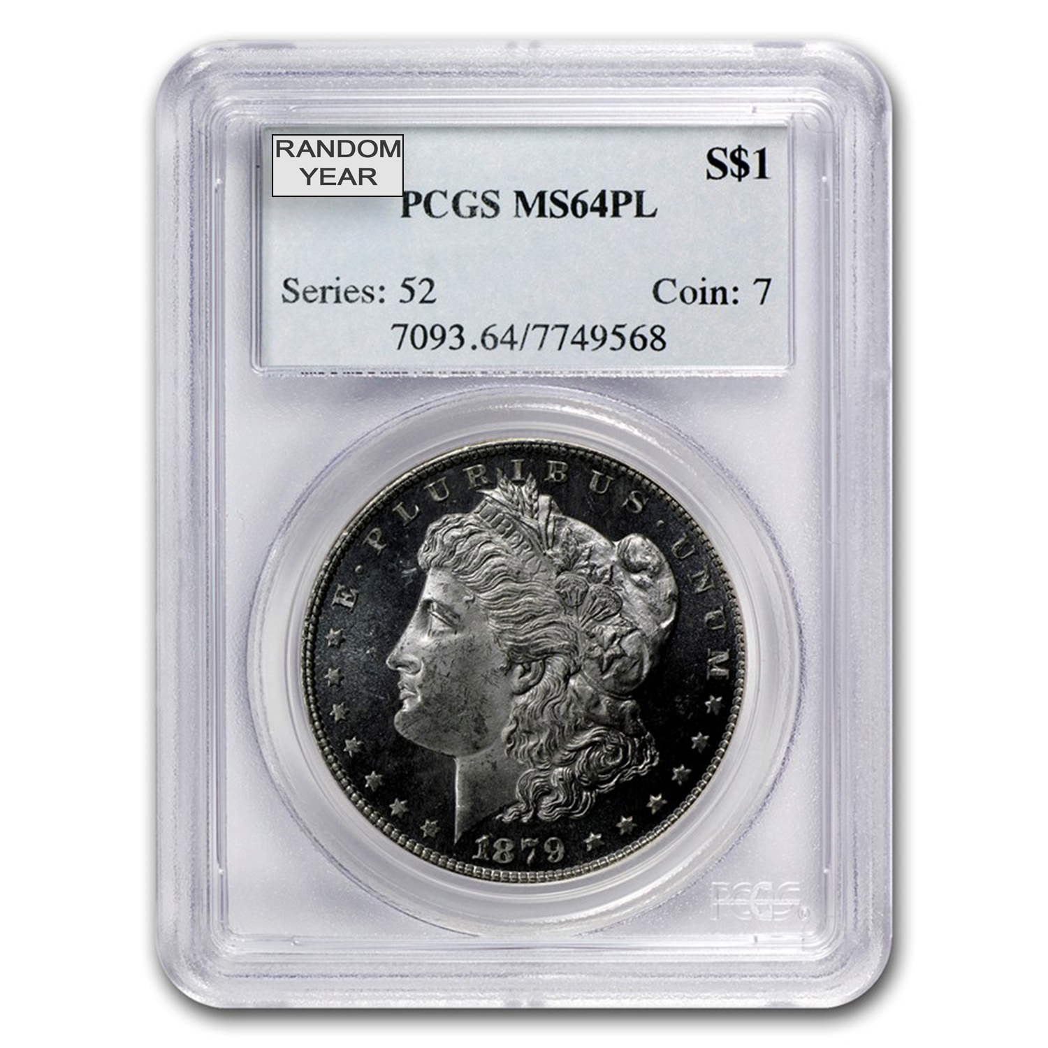 1878-1904 Morgan Dollars - MS-62 PCGS (Proof Like)
