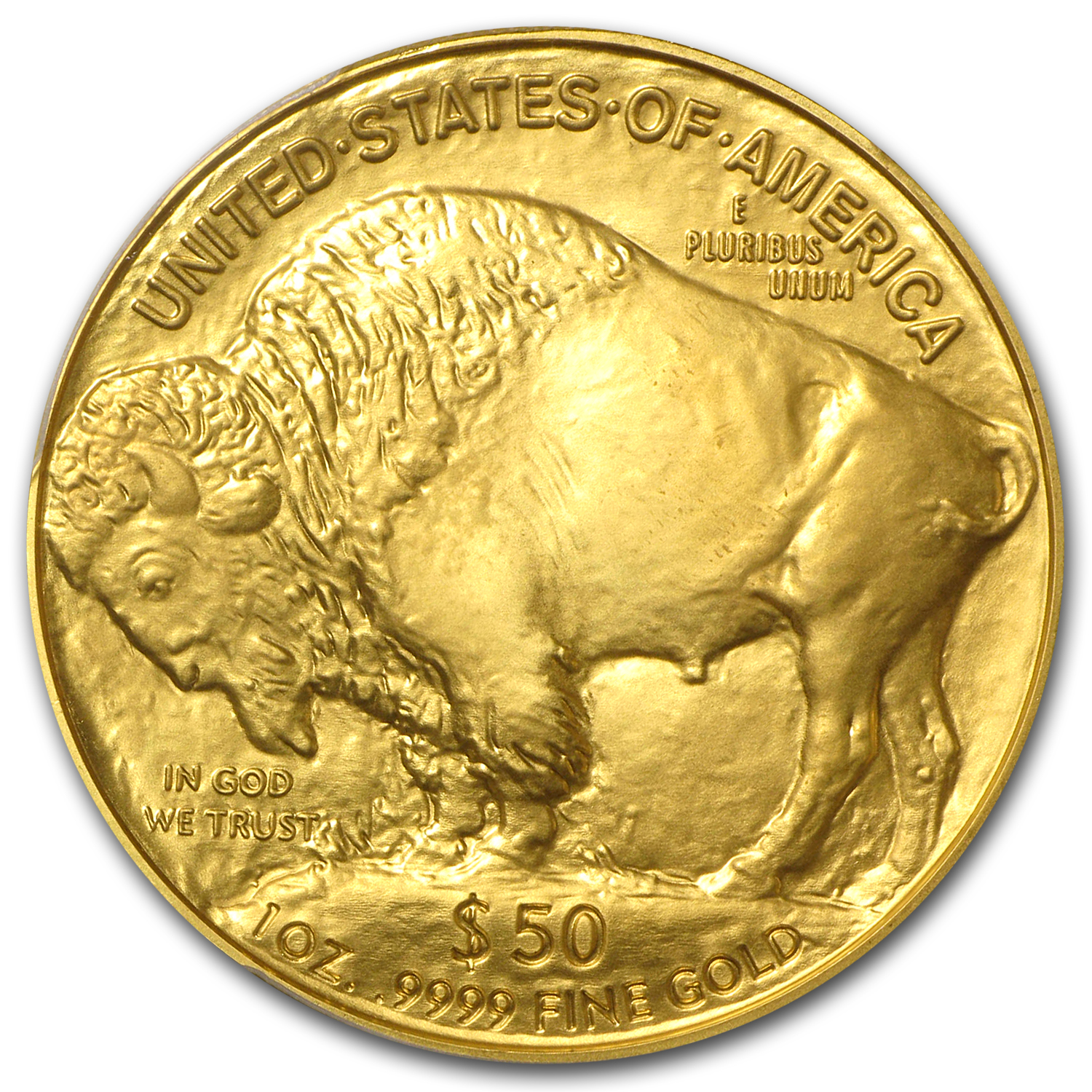 2007 1 oz Gold Buffalo MS-70 PCGS (FS, Black Diamond)