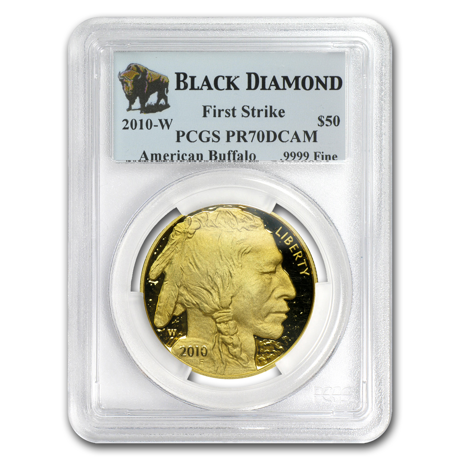 2010-W 1 oz Proof Gold Buffalo PR-70 PCGS (FS, Black Diamond)