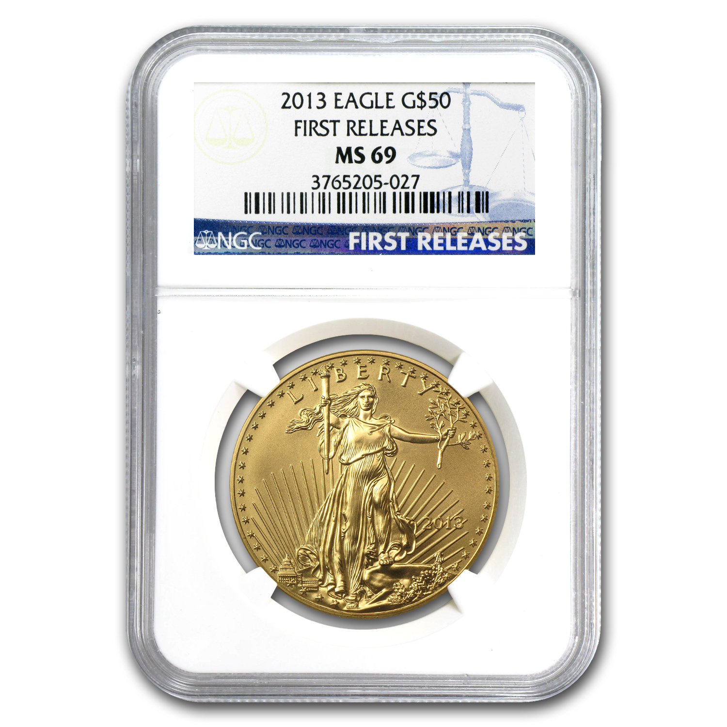 2013 1 oz Gold American Eagle MS-69 NGC (First Releases)