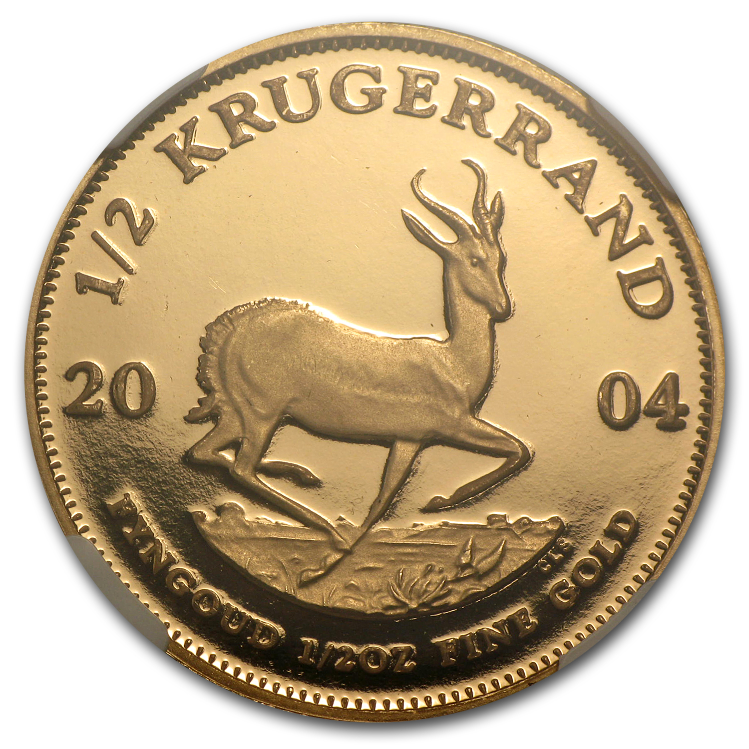 2004 1/2 oz Gold South African Krugerrand PF-67 NGC