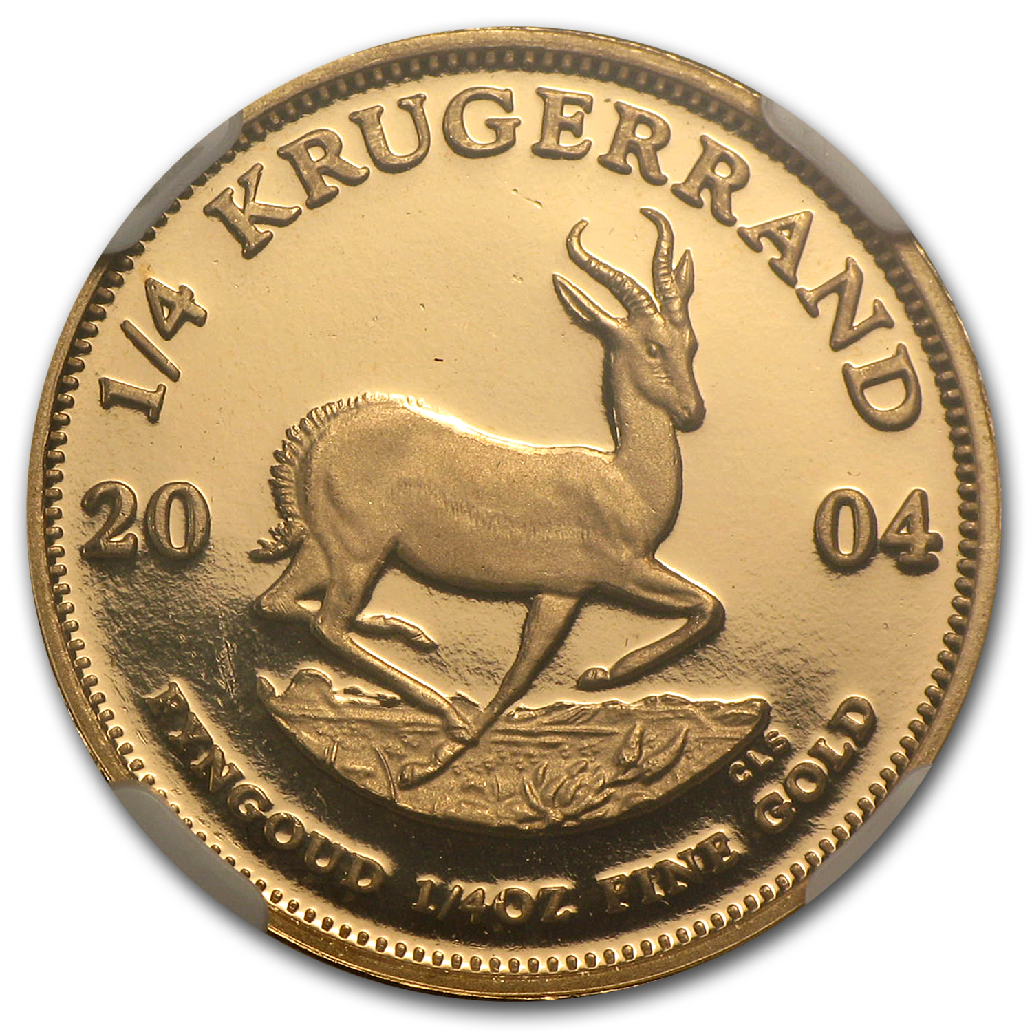 2004 1/4 oz Gold South African Krugerrand PF-66 NGC